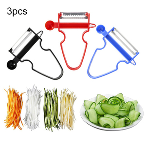 3pcs Set Slicer Shredder Peeler Julienne Cutter Multi Peel Stainless Steel Blade Grater Kitchen Tools Magic Trio Peeler Set(China)