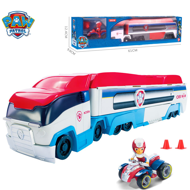 Paw Patrol Juguete Rescue Bus Toy Patrulla Canina Paw Patrol Dog  Ryder Action Figure Modelo Toys For Children Gift SS03