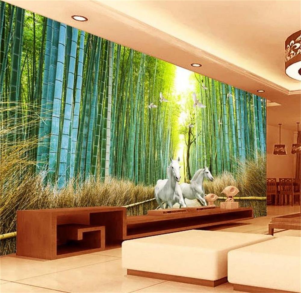3D wallpaper/custom photo wall paper/Chinese style white bamboo/mural/TV/sofa/Bedroom/KTV/Hotel/living room/Children room