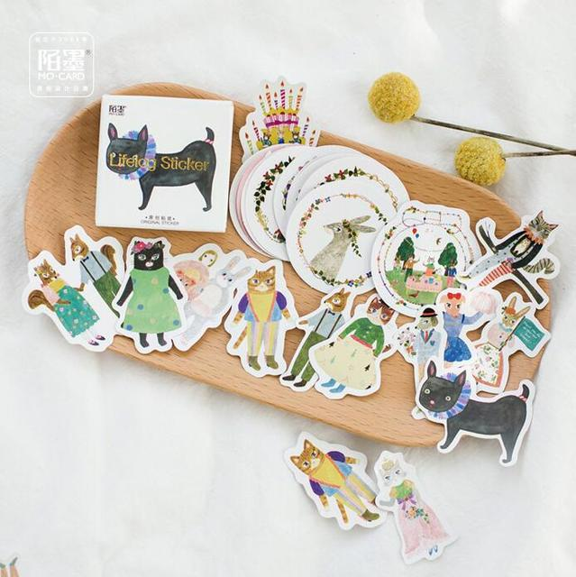 45 pcs/pack Forest Concert Alice Decorative Stickers Adhesive Stickers DIY Decoration Diary Stickers Box Package