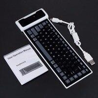 1Pcs Black Mini Soft Silicone Foldable Portable Flexiable Bluetooth Keyboard DropShipping