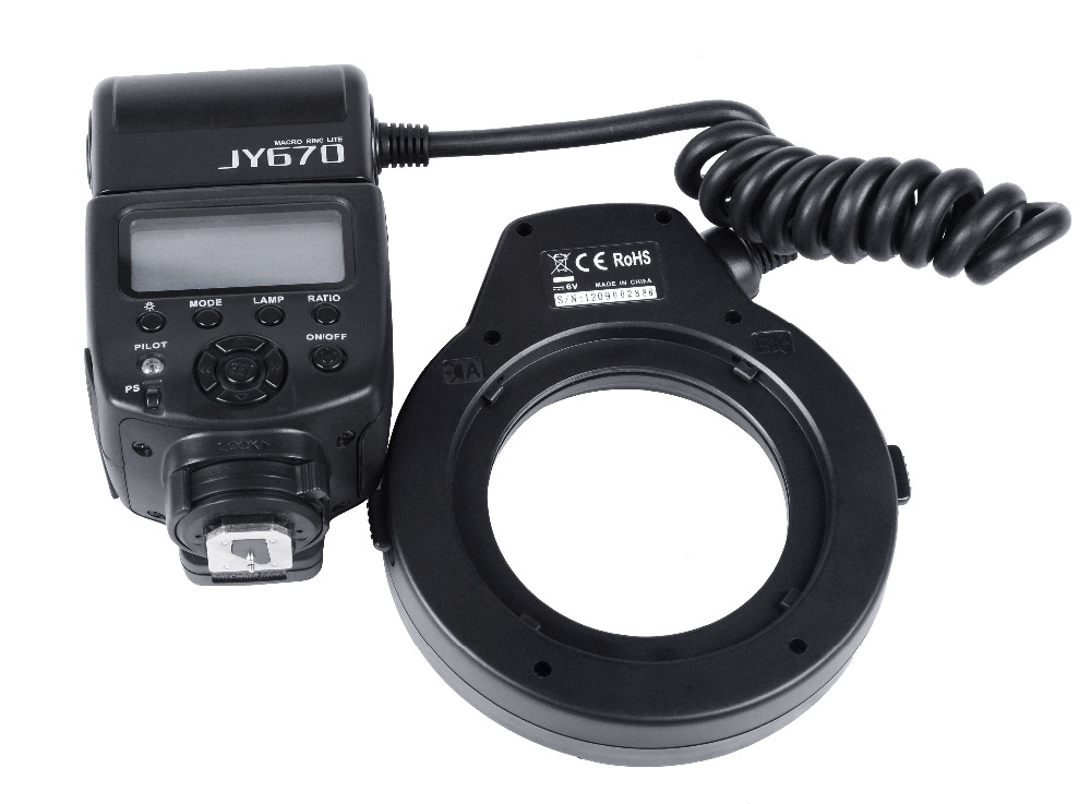 Viltrox JY-670 Professional Macro Ring Flash Light Lite 5500k Speedlite for most of the camera godox ar400 400w li ion battery lcd panel powerful macro led ring flash speedlite video light kit with free dhl ems