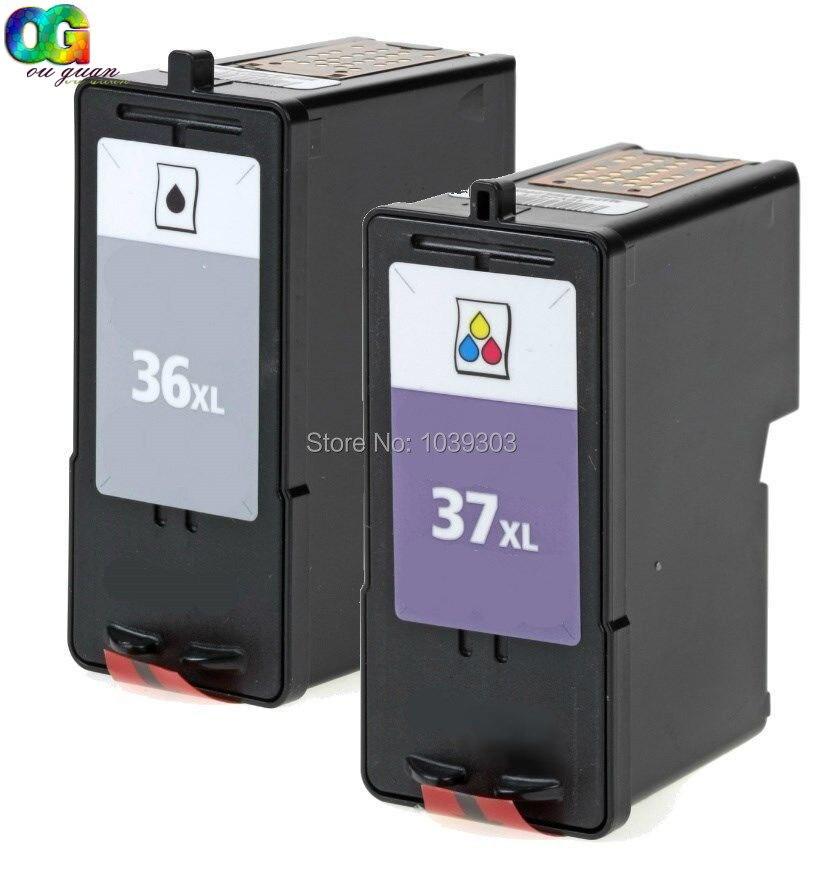 2PK 36XL 37XL Tintenpatrone Set Kompatibel Für Lexmark 36 37 X5650es Z2420...