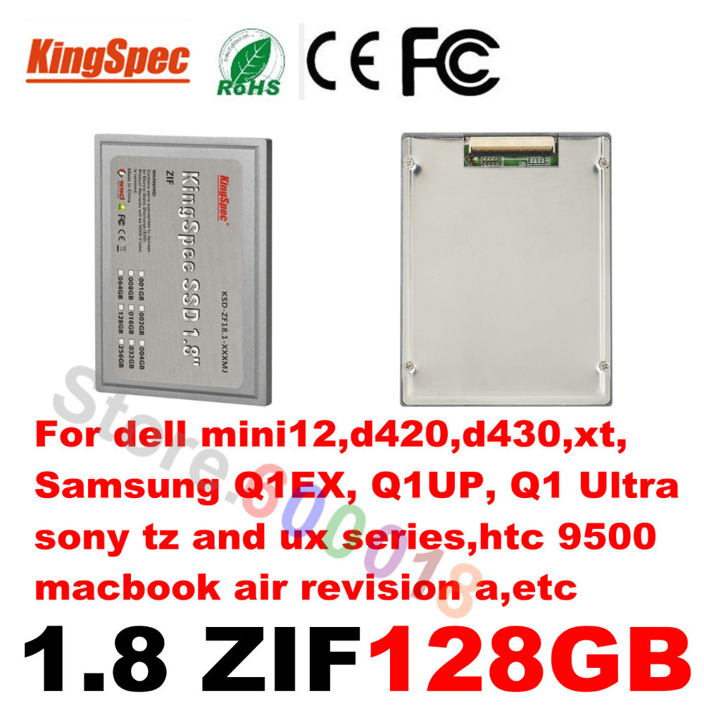 Prix pour Vente Kingspec 1.8 ssd ATA7 ZIF 2 CE hd SSD 128 GB 128 Lecteur à État solide SSD 120 GB Disque Dur Pour SONY Pour DELL Pour HP