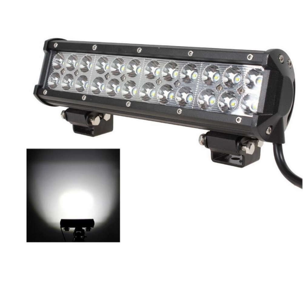 72W Led Work Light Bar 24 LED Headlights for Car Motorcycle Truck SUV ATV OffRoad 12 Inch Spot Flood work light 12 inch 72w led work light bar for indicators motorcycle driving offroad boat car tractor truck flood 4x4 suv 12 24v fog light