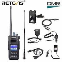 Retevis Ailunce HD1 DMR Цифровой Walkie Talkie 10 Вт IP67 Водонепроницаемый двухдиапазонный УКВ DMR Ham любительской радиостанции + аксессуары