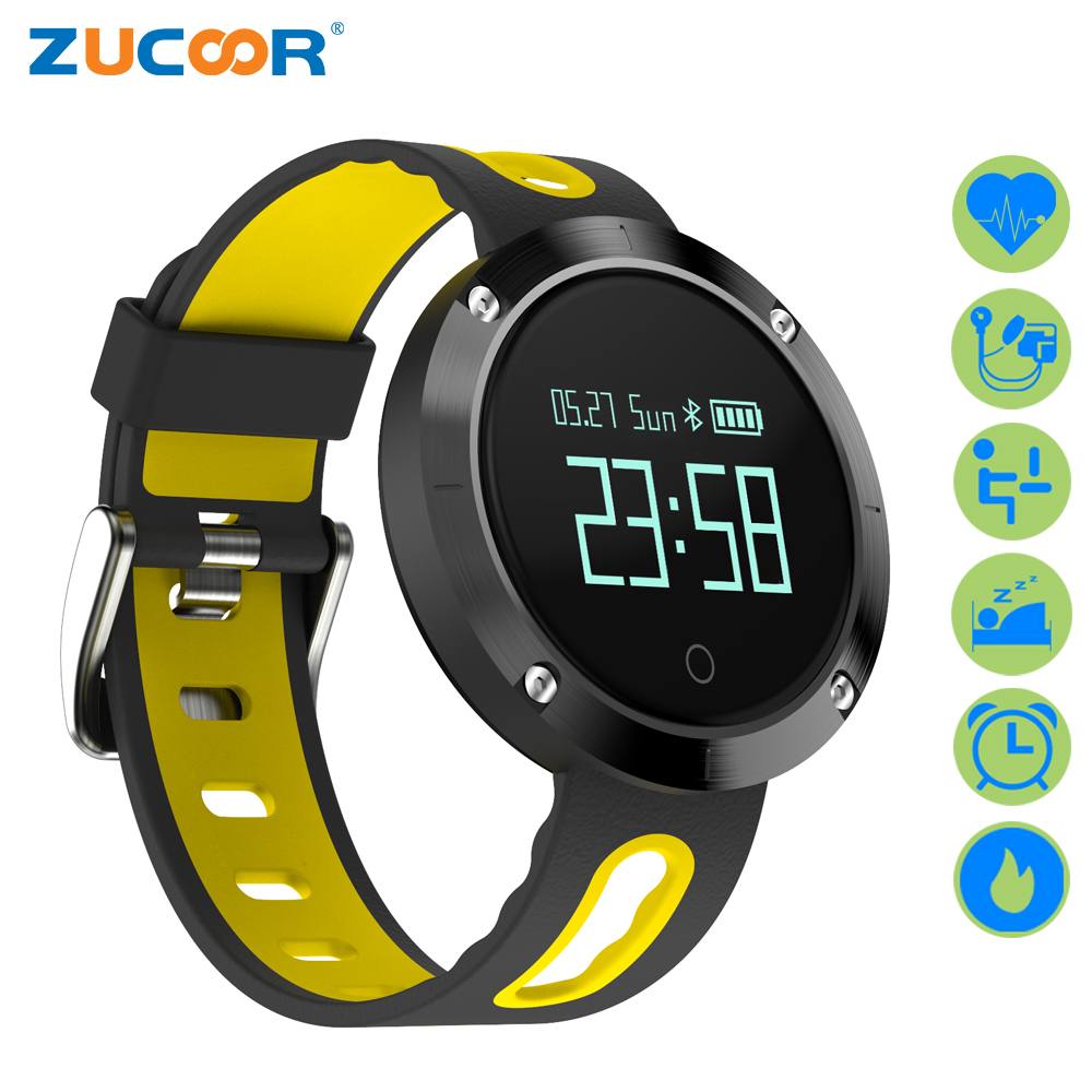 ZUCOOR Smart Bracelet Heart Rate Monitor Pulse Wristband DM58 IP68 Fitness Cardiaco Band Pedometer Fitness Blood