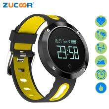Zucoor смарт-браслет сердечного ритма Мониторы пульс браслет DM58 IP68 Фитнес cardiaco группа шагомер Фитнес Приборы для измерения артериального давления часы