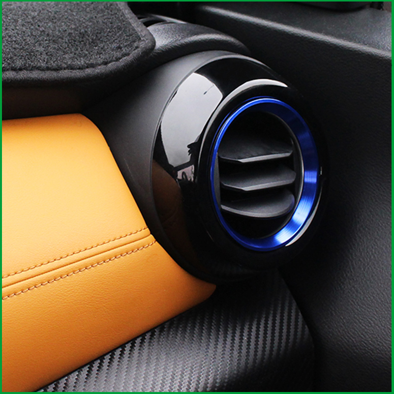 Car-styling Both Side Outlet Trim For Nissan Kicks 2016 2017 2018 ABS Air Vent Outlet Cover Ring Trim Molding Car Accessories