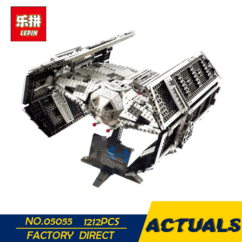 LEPIN 05055 1212Pcs Star Series Wars The Rogue One USC Vader TIE Advanced Fighter Set 10175 Building Blocks Bricks Educational lepin 05055 star 1212pcs the rogue one usc vader tie advanced fighter set 10175 building blocks bricks educational war for kids