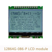 10pcs/lot 12864 LCD Display Module 12864G 086 P Dot Matrix Module COG with Backlight 4 Serial Interface 5V