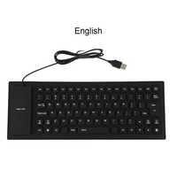 Flessibile In Silicone Resistente All'acqua Mini Gaming Keyboard Tastiera USB Portatile per il Computer Tablet Computer Portatile Del PC Nuovo Caldo