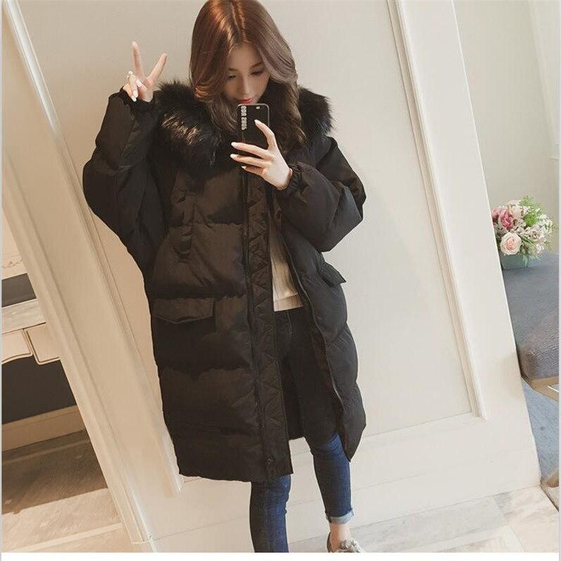 De Beige Style Couleur Femmes 2018 3xl Mode D'hiver Wid Vestes taille Solide Coton Zipper Manteaux Manteau Grande Col noir Parkas Coréen Fourrure Taille M erxWoQdCB