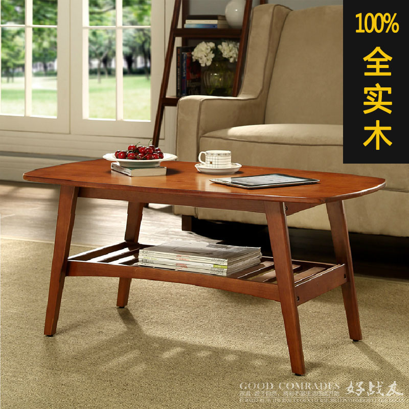 American Minimalist Solid Wood Coffee Table Small