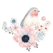 Fashion PVC Patch Clothes Large Bird Flower Thermal Transfer Printing T shirt Girl iron on patches for clothing Cute Stickers fashion patch diy clothes super cat 3d stickers thermal transfer printing iron on patches for clothing t shirt free shipping