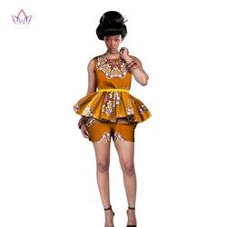 النساء الملابس الأفريقية 6XL النساء الملابس الأفريقية 2 قطعة مجموعات الأفريقية طباعة مجموعة تي شيرتات قصيرة للأطفال تصميم ماركة Dashikis طباعة BRW ...