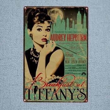 Cartel de película clásica de estaño para decoración de pared, Pub, Hotel,...