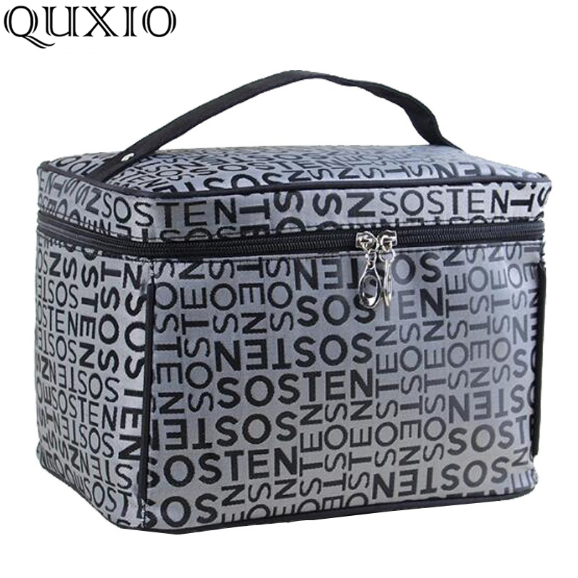 a03e6d48cb49 US $3.99 50% OFF|Extra Large Capacity Woman Cosmetic Bags Big Travel  Toiletry Bag Letter Pattern Necessary Organizer Makeup Bag Storage ZL100-in  ...
