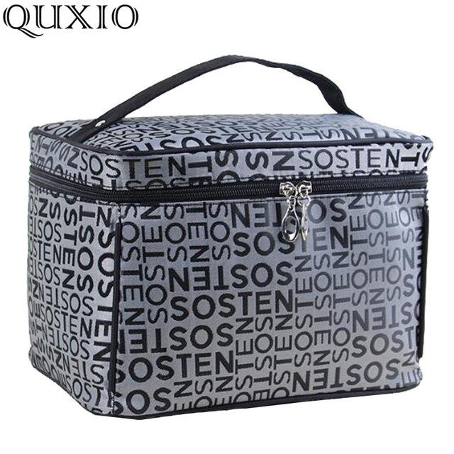Extra Large Capacity Woman Cosmetic Bags Travel Toiletry Bag Letter Pattern Necessary Organizer Makeup