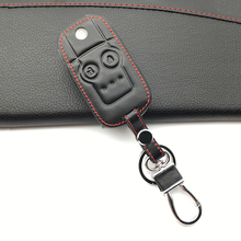 Для Honda CRV Civic Accord Jazz вариабельности сердечного ритма Высокое качество кожа Ключи Чехол протектор 2 кнопки дистанционного чехол для пульта брелок