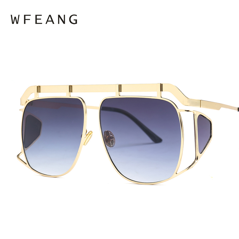 ff079120c4a WFEANG Brand Designer Decoration Women eye protector Sunglasses Fashion  Oversized Sun Glasses Ladies Clear Pink Shades Oculos-in Sunglasses from  Apparel ...
