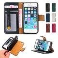 Estilo de lazer multi funcional 2 em 1 pu leather fique wallet case capa para iphone 5 5s se