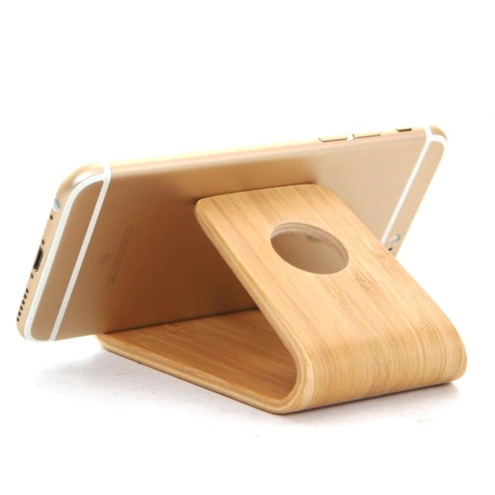 Comprar titular de teléfono móvil de madera para accesorios de - Accesorios y repuestos para celulares - foto 4