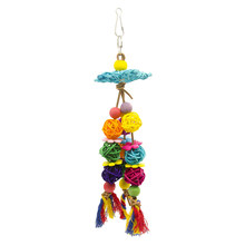 1PC Rainbow Nontoxic Colorful Creative Rattan Balls Hanging Colour Swing Climbing Toys Bird Toys Bird Supplies Parrot Toy(China)
