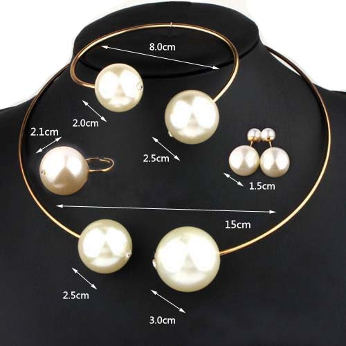 VIVILADY Modni Nakit Postavlja Ogroman Imitacija Pearl Rhinestone - Modni nakit - Foto 2