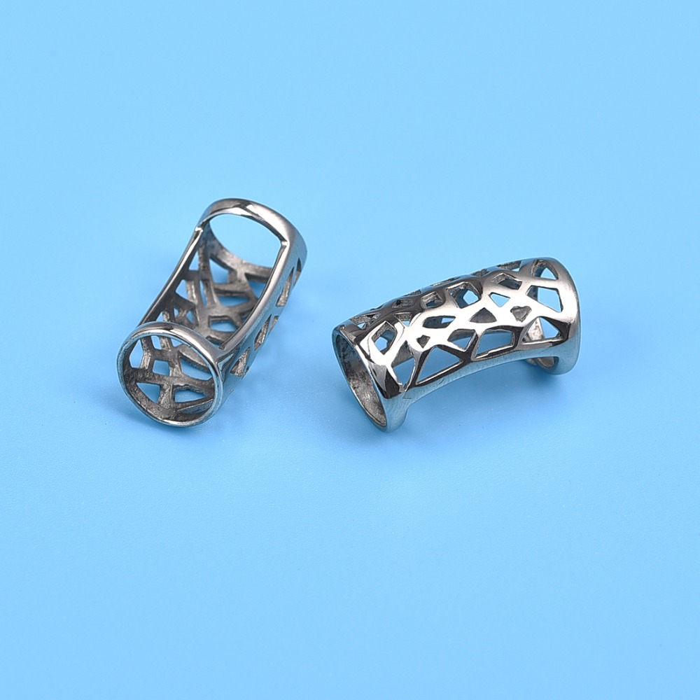 Stainless Steel Slider Tube Beads Hollow Hole 6&9mm (8)