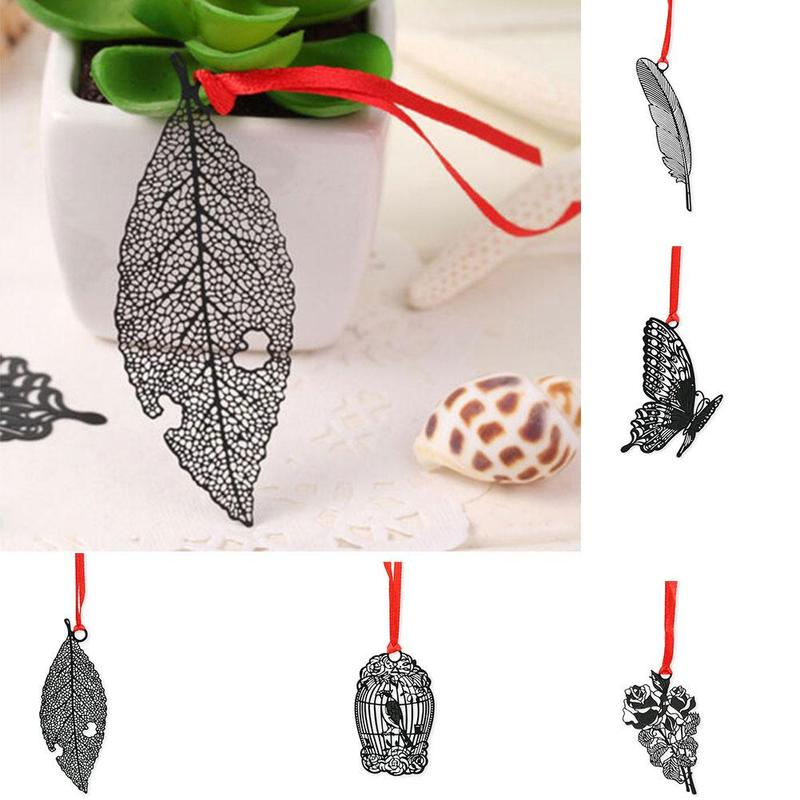 Chinese Traditional Style Bookmarks Diy Kawaii Butterfly Bird Cage Feather Flower Metal Bookmark For Book Creative Stationery