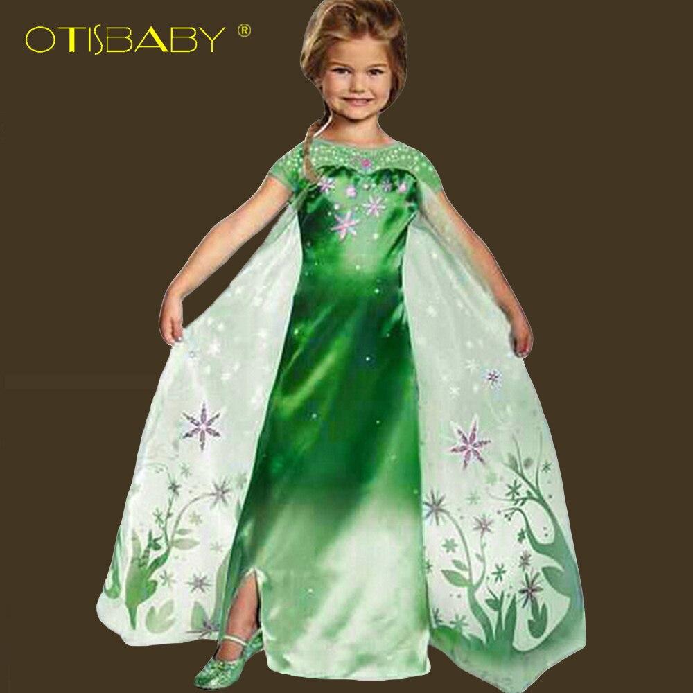 Phantasie Mädchen Deguisement Snow Queen Elsa Geburtstag Kleid für ...