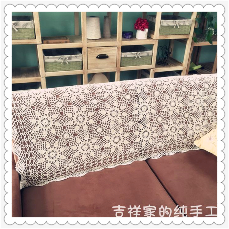 Crochet Sofa Cover For Sale: Hot Selling European Fashion 100% Natural Cotton Crochet