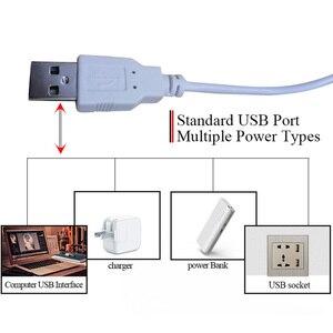 Image 4 - 새로운 USB LED 스트립 바 빛 DC5V SMD 2835 3W 5W 300lm 550lm USB LED 책상 램프 침대 옆 독서 작업 학습 조명