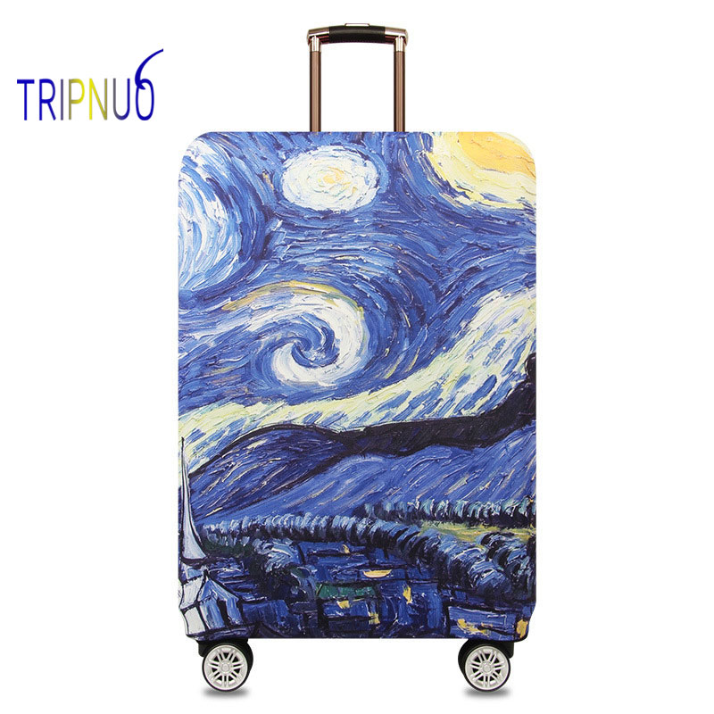 TRIPNUO Elastic Fabric Starry Sky Luggage Protective Cover, Suitable18-32 Inch , Trolley Case Suitcase Cover Travel Accessories