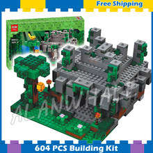 604pcs Meu Mundo O Templo Da Selva Labirinto Treasure Chest 10623 Minecrafted Modelo Building Blocks Brinquedos Bricks Compatível com Lego(China)
