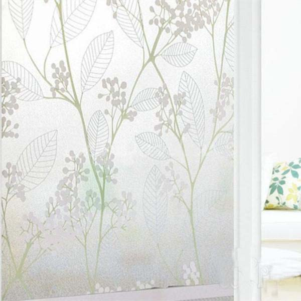 1pc Home Window Door Toilet Decor Frosted Glass Privacy Stickers Film 45cm X 2m Wintersweet
