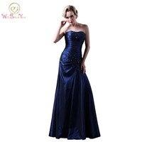 שמלות ערב כחול כהה Mermaide שמלות סטרפלס ללא משענת שמלות סקסיות לנשף התחרה חרוזים אירועים שמלות בתוספת גודל