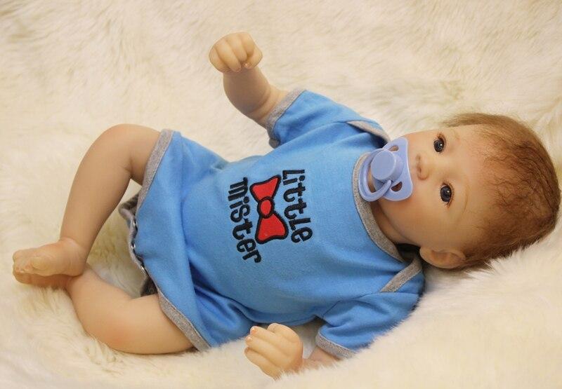 50 cm 연약한 실리콘 reborn 아기 인형 장난감 진짜 접촉 귀여운 신생아 아기 사랑스러운 생일 선물 아이 선물 소녀 brinquedos-에서인형부터 완구 & 취미 의  그룹 3