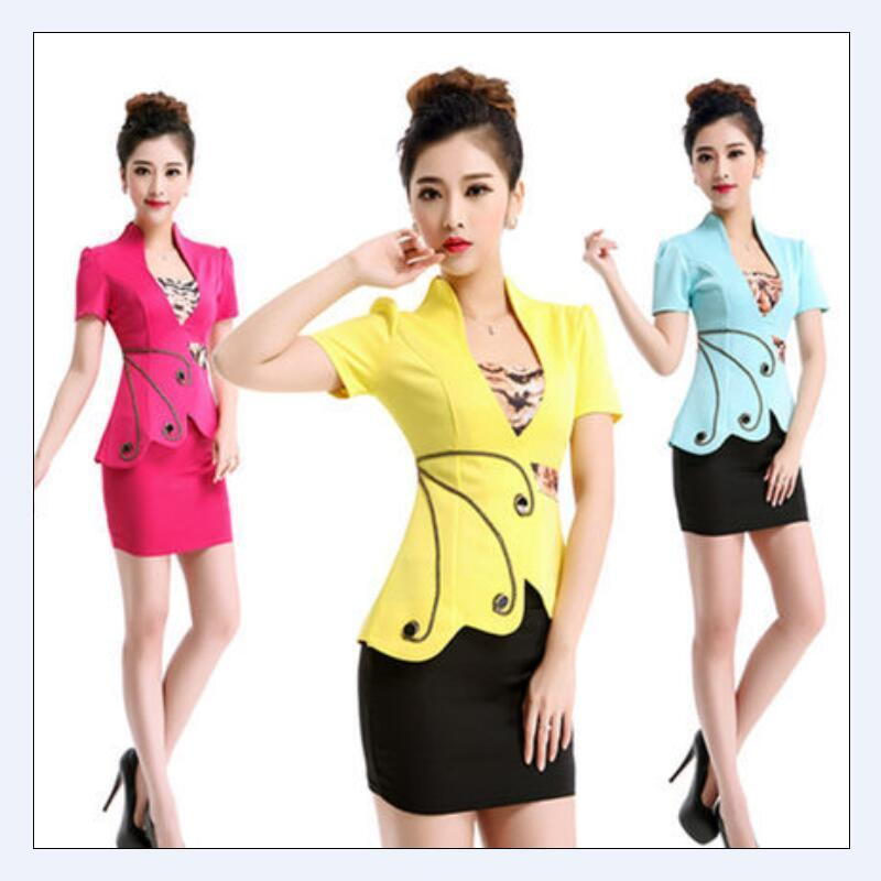 Summer style 2 pie OL Slim vest skirt suit Sexy Carreer Dresses skirt office uniform style women work wear Female