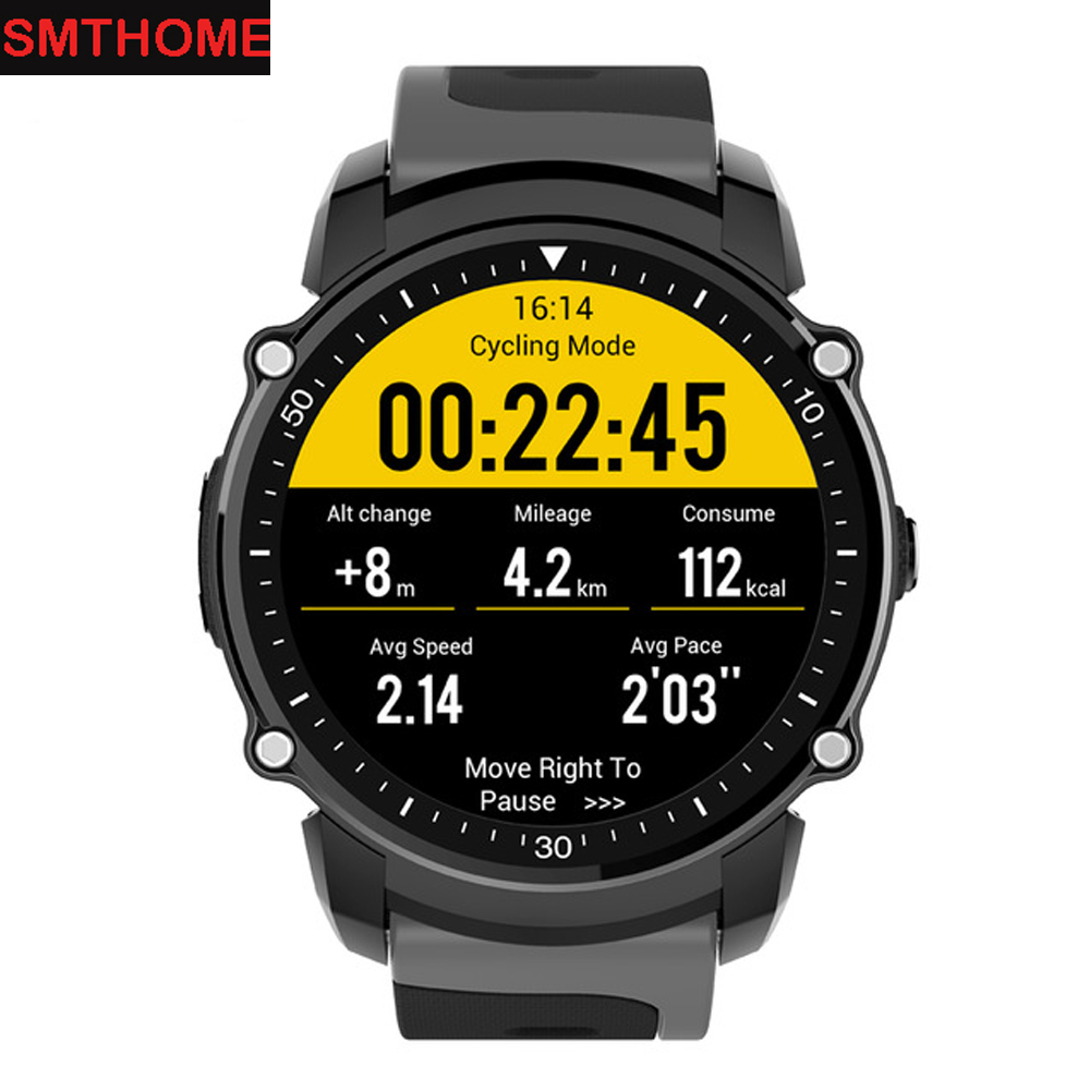 FS08 Smart Watch Men GPS Compass Sports Watch Fitness Tracker Pedometer Heart Rate Monitor Bluetooth Watch Clock for Android IOS fs08 gps smart watch mtk2503 ip68 waterproof bluetooth 4 0 heart rate fitness tracker multi mode sports monitoring smartwatch