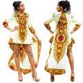 Женщины Африканских Одежды Платья Новый Горячий Стиль Костюм Большой Тотем 2016 Осенние Зимы Является Нерегулярные Печатных Длинными рукавами платье