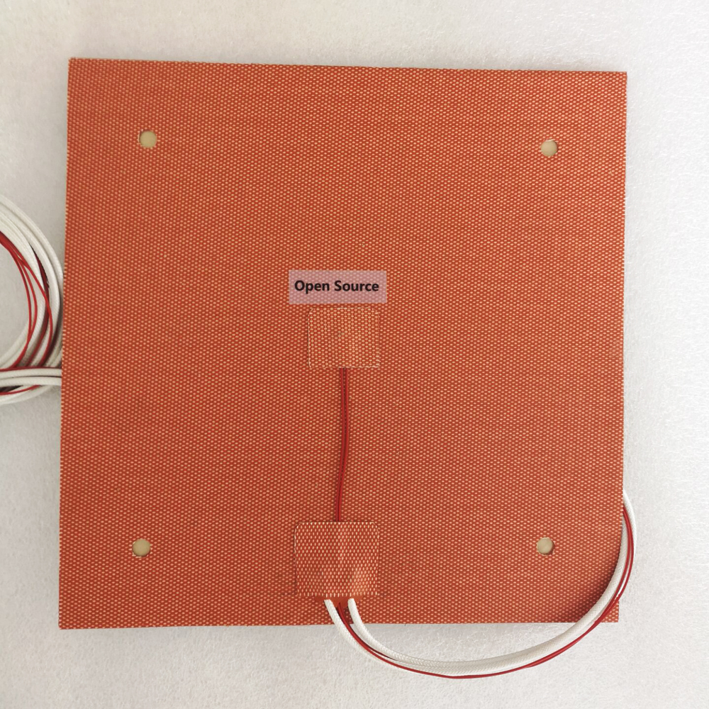 USA Material! Ender-3s Flexible 235x235mm Silicone Heater 24V 220V 110V Heated Bed Build Plate For Creality Ender-3 3D Printer