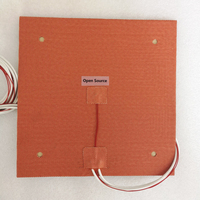 USA Material! Ender 3s Flexible 235x235mm Silicone Heater 24V 220V 110V Heated Bed Build Plate for Creality Ender 3 3D Printer