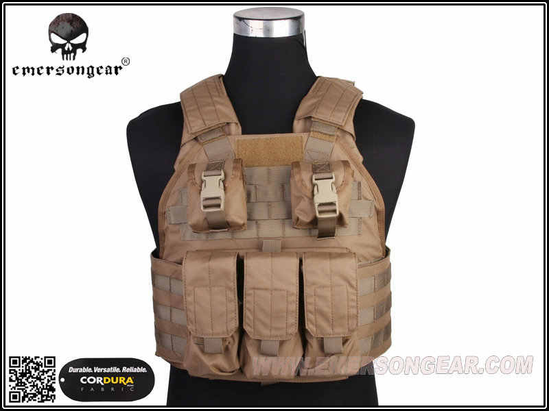 Hunting Heavy Vest Emerson SPC Tactical Vest Airsoft Molle Military Tactical Gear Coyote Brown EM2887