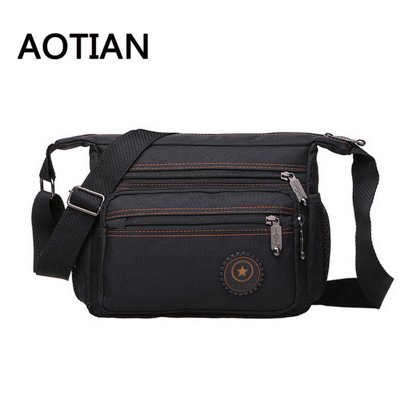 2017 AOTIAN New Men Messenger Bags High Quality Nylon Waterproof Bag Crossbody Bags For Men Leisure Travel Bag Handtassen jason tutu promotions men shoulder bags leisure travel black small bag crossbody messenger bag men leather high quality b206