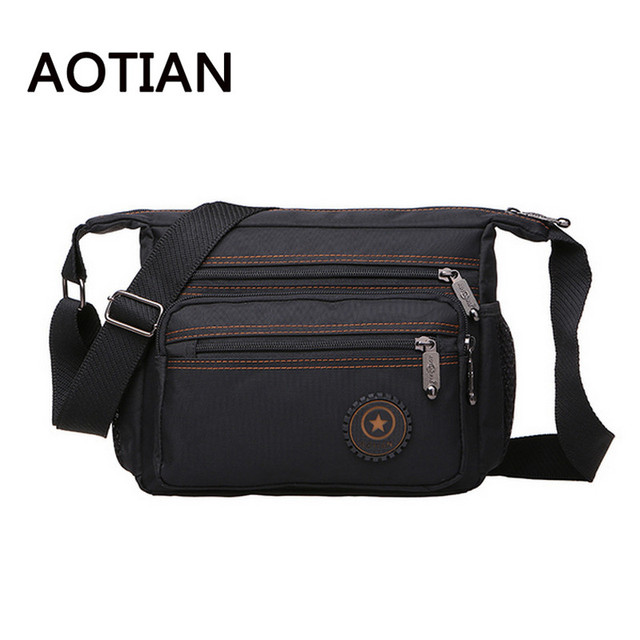 ceb8e04ab7 2017 AOTIAN New Men Messenger Bags High Quality Nylon Waterproof Bag  Crossbody Bags For Men Leisure