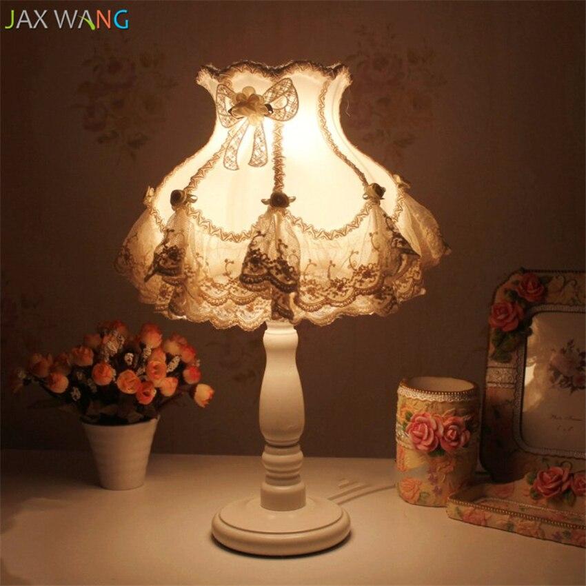 Best Sale #23082 - Lampes De Table En Tissu De Dentelle ...