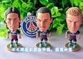 3 unid/set Paris St Germain PSG de colección estrella futbolista muñeca muñecas de juguete de la exhibición LUIZ BECKHAM