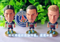 3pc/set Paris St Germain PSG football soccer player star collection doll dolls display toy LUIZ BECKHAM